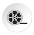 Film reel icon flat style vector image