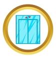 Elevator with closed door icon vector image