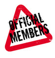 official members rubber stamp vector image