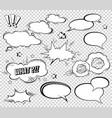 big set of cartoon comic speech bubbles empty vector image