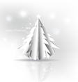 Christmas background with Paper Christmas tree vector image vector image