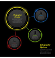 neon infographic circle background2 vector image vector image