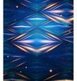 Abstract hexagon pattern Blue shiny background vector image