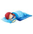 A sleeping child vector image vector image