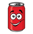 Red cartoon soda or soft drink can vector image vector image