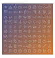 100 line icons set vector image vector image