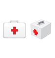 first aid boxes vector image vector image