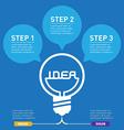 Inscription idea inside bulb light Infographics vector image vector image