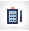 Flat color e-book reader icon vector image