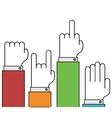 modern thin line flat hands gestures set vector image