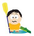 kayaker vector image vector image