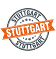 Stuttgart red round grunge vintage ribbon stamp vector image