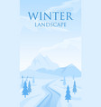 abstract winter landscape vector image