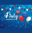 an 4 july vector image