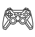 cartoon image of game icon gamepad symbol vector image