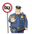 Cop prohibits sex vector image