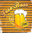 Free Beer Sign vector image