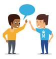 friends greeting cartoon vector image