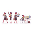 set of female professional teacher in school vector image