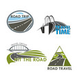 road travel time icons vector image vector image