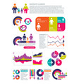 people population infographics with vector image vector image