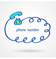 phone number icons element sketch color vector image