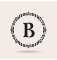 frame calligraphic design emblem Vintage labels vector image vector image