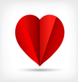Abstract red origami paper heart vector image