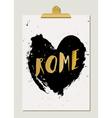 Black Heart Rome Poster vector image