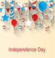 greeting card for american independence day 4th vector image