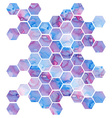 Hand drawn purple background with hexagons vector image
