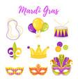 mardi gras symbols vector image
