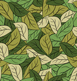 Military texture leaves Army camouflage of foliage vector image