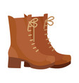 pair of boots in flat design vector image
