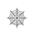spider web halloween icon vector image