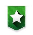 Star ribbon insignia vector image