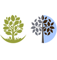 Tree emblem 3 isolated on white vector image