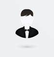 user icon of man in business suit Isolated on vector image