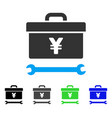 Yen toolbox flat icon vector image