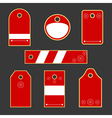 christmas tag collection vector image