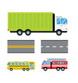 fire truck car cartoon delivery transport cargo vector image