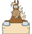Horse cartoon vector image vector image