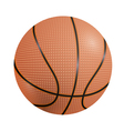 Basketball ball on a white background vector image