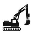 Excavator black simple icon vector image