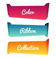 Colorful paper roll long collections design on vector image