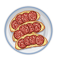 sandwiches with salami vector image