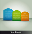 Option Tabs Template vector image vector image