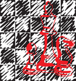checkerboard pattern vector image