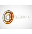 Futuristic circle business logo design vector image vector image