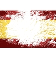 Spanish flag Grunge background vector image